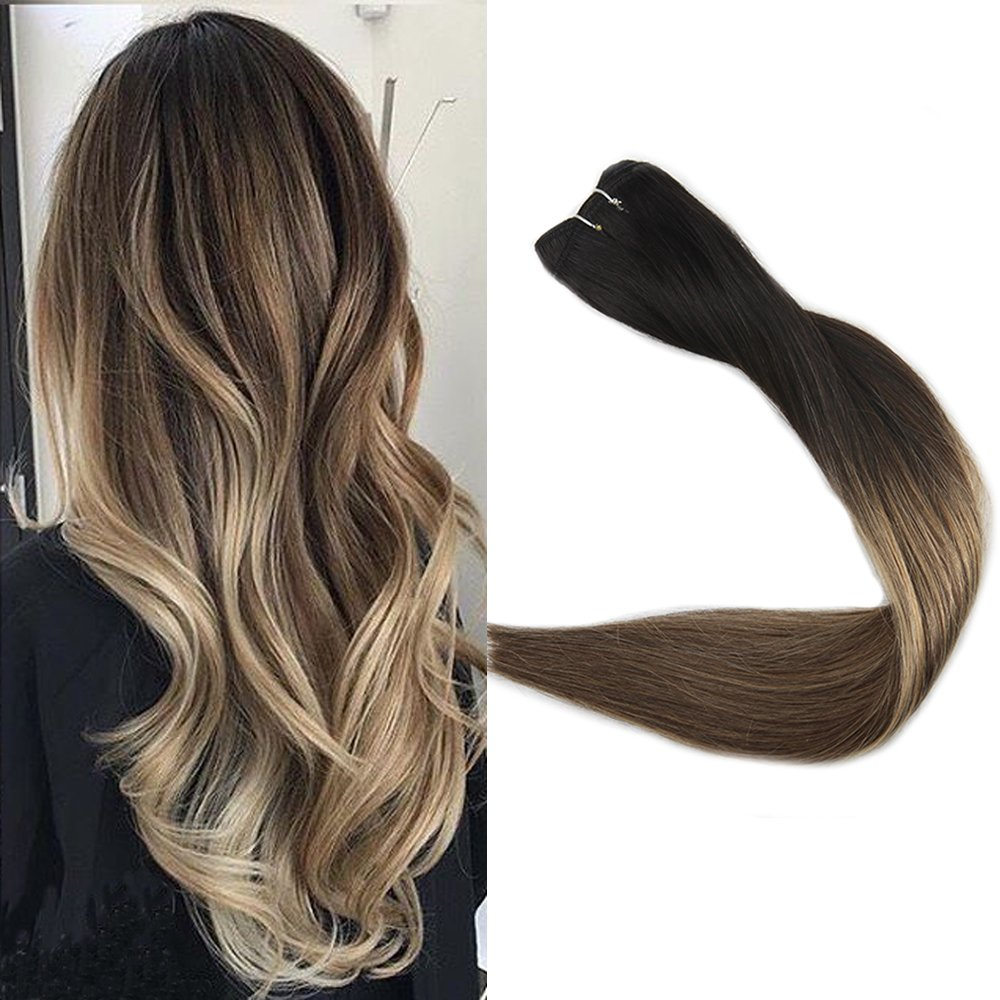Full Shine 16 inch Remy Balayage Hair Bundles Extensions 100