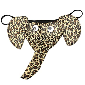 Nueva Tanga Leopardo Hombre Con Diseño Nariz Elefante Ropa Interior Masculino