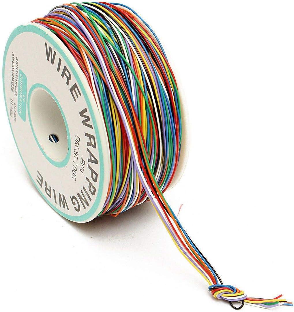 Sandis 250 M 8 Fils Couleur Isol/ée P//N B-30-1000 30Awg Enroulement De Fil Enveloppe De Cable