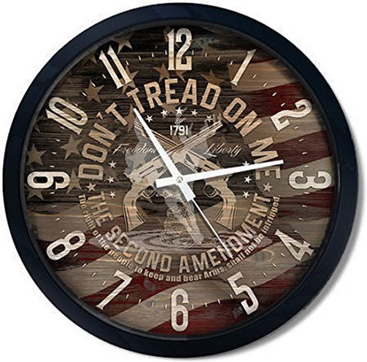 "Reflective Art 15"" 'Don't Tread on 2nd Amendment Classic Clock"