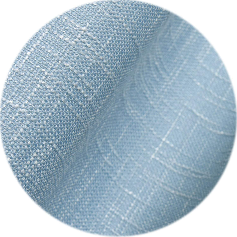 vibe-pleasure Modern Pastoral Faux Cotton Linen Curtains for Living Room Semi-Shades Window Darkening Backdrop Polyester Voile Fabrics,Blue,W350cm L270cm,1 Rod Pocket