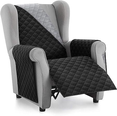 Textilhome Housse Fauteuil Protecteur Malu Taille 1 Places Relax Housse Matelasse Reversible Couleur Noir Amazon Fr Cuisine Maison