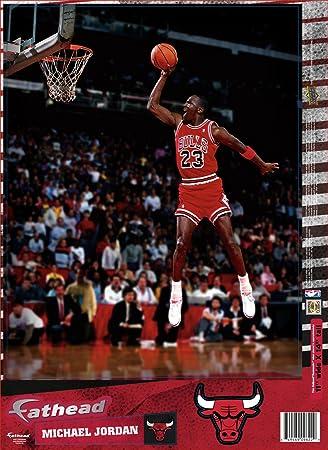Michael Jordan Chicago Bulls NBA 11x14quot Dunking Fathead Decal