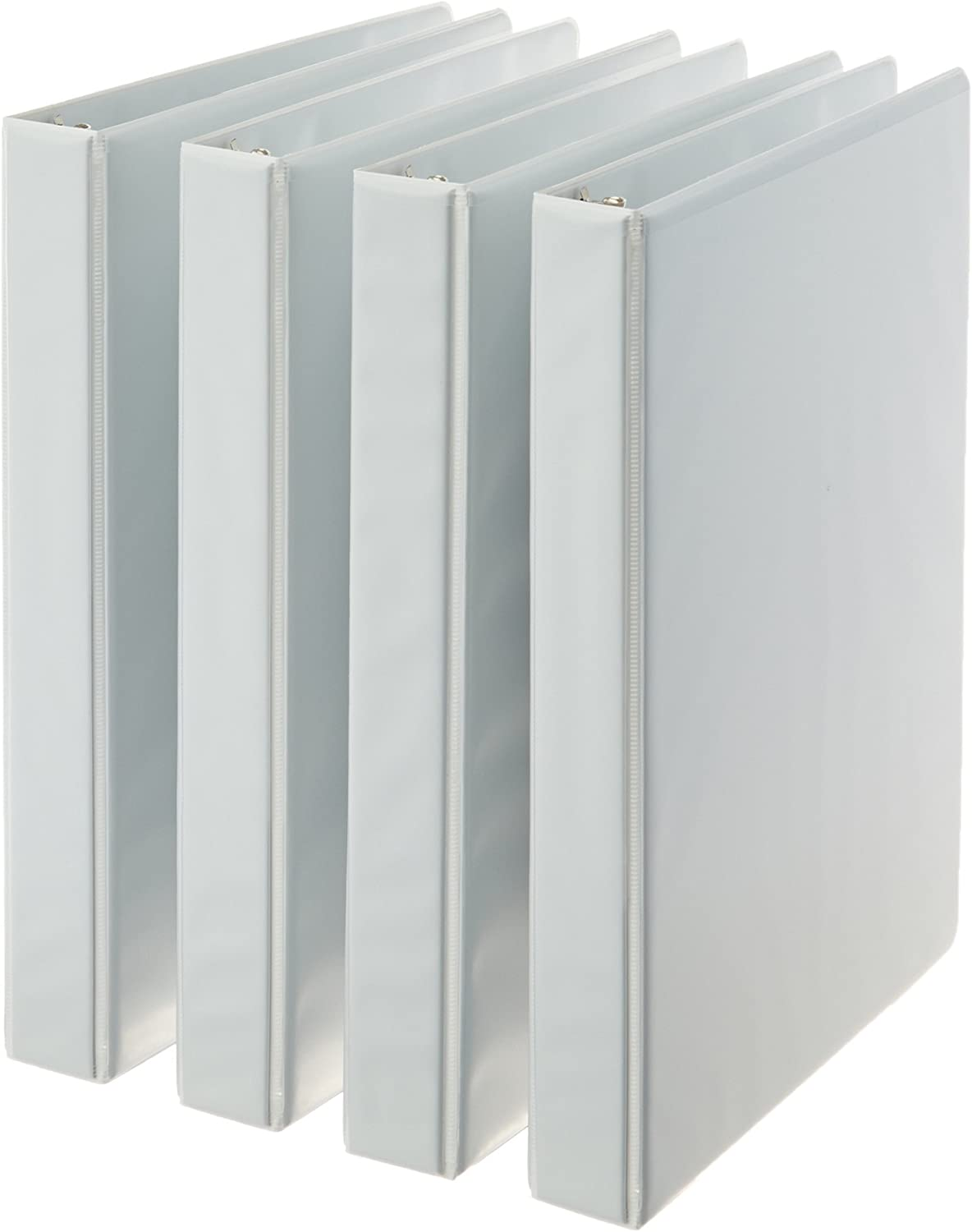 Basics 3-Ring Binder, 1 Inch - White, 4-Pack : Office Products
