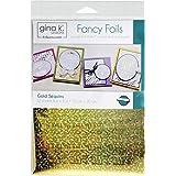"Gina K. Designs Fancy Foils 6""x8"" Sheets 12 Sheets per Pack (Gold Sequins)"