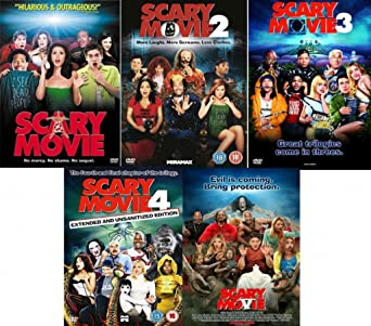 Amazon Com Scary Movie Complete Dvd Collection 5 Discs Boxset 1 2 3 4 5 Movies Tv