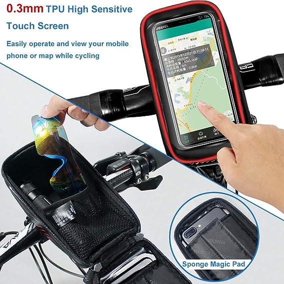 ... Táctil Bolsa Marco Bicicleta Funda Movil Bici para iPhone XS MAX/XR/X/8Plus Samsung S9/S8 hasta 6,5 Smartphone, Rojo: Amazon.es: Deportes y aire libre