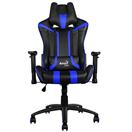 Aerocool AC120 - Silla gaming profesional, ergonómica, altura regulable, azul