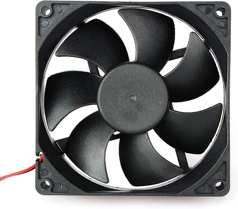 Movilideas Ventilador de 90 mm por 90 mm por 25 mm 9025 DC 12 V 0,20 A rodamiento de Bolas sin escobillas Refrigeración Ventilador 2pin (9025 12V.)