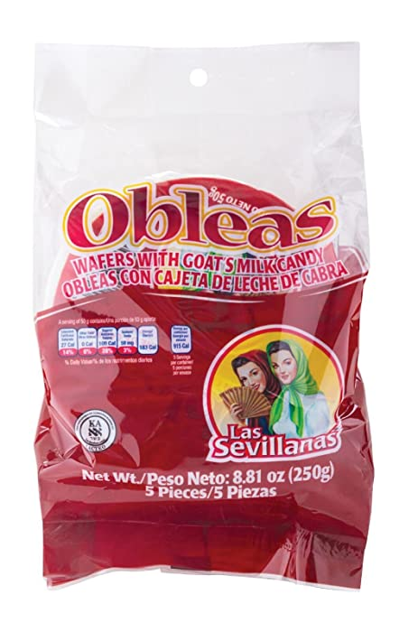 Medium Obleas with Cajeta 7.05oz Las Sevillanas