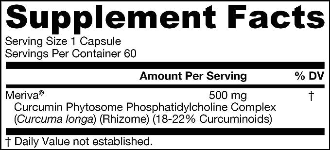 La curcumina Phytosome, 500 mg, 60 Caps Veggie - Jarrow Formulas: Amazon.es: Salud y cuidado personal