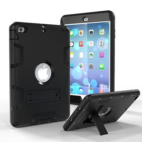 iPad Mini 4 funda, iPad Mini 4 Carcasa Híbrida, Triple Protección híbrida carcasa de silicona a prueba de golpes carcasa rígida con función atril para ...