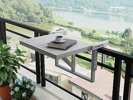 INTERBUILD REAL WOOD Mesa de balcón de Estocolmo (Gris Oscuro): Amazon.es: Jardín