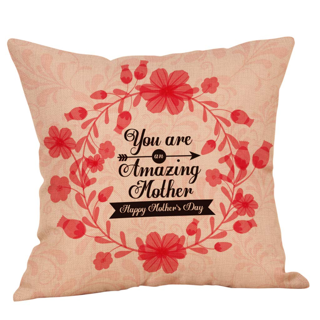 Weiliru Decorative Liene Pillow Covers Soft Square Throw Pillow Covers Soild Cushion Covers Jam Pillow Cases for Sofa Bedroom Car 18 x 18 Inch
