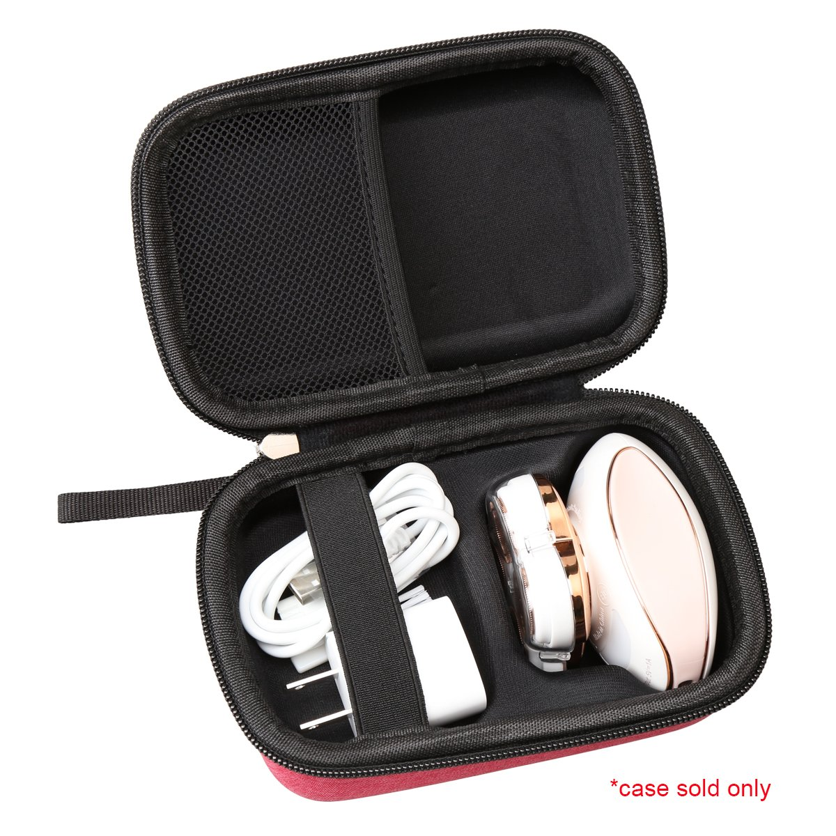 Red Hard Carrying Travel Case for Finishing Touch Flawless Legs Women's Hair Remover by Aproca