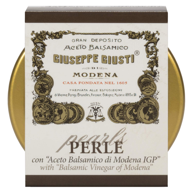 Giuseppe Giusti Perle con Aceto Balsamico di Modena IGP - Black Pearls of  Giusti Balsamic Vinegar of