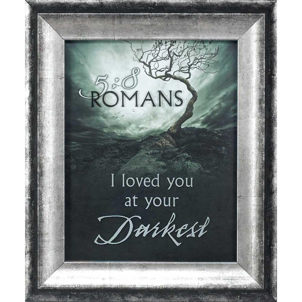 Dicksons Loved You At Your Darkest Twisted Tree Stormy Sky 11 x 14 木製ウォールサイン飾り額   B07DLGHK8H