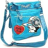 Betty Boop hat cross body shoulder messenger bag rhinestones sling pouch