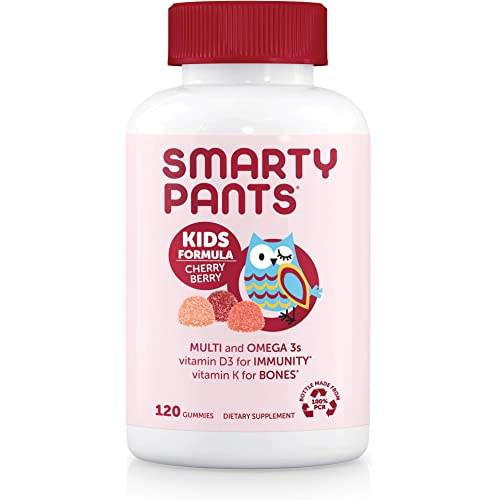 SmartyPants Daily Gummy Multivitamin Kids (30 Day Supply), Cherry Berry, Cherry, 120 Count (Pack of 1)