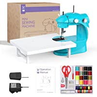Mini Sewing Machine with Sewing Kit (Blue)
