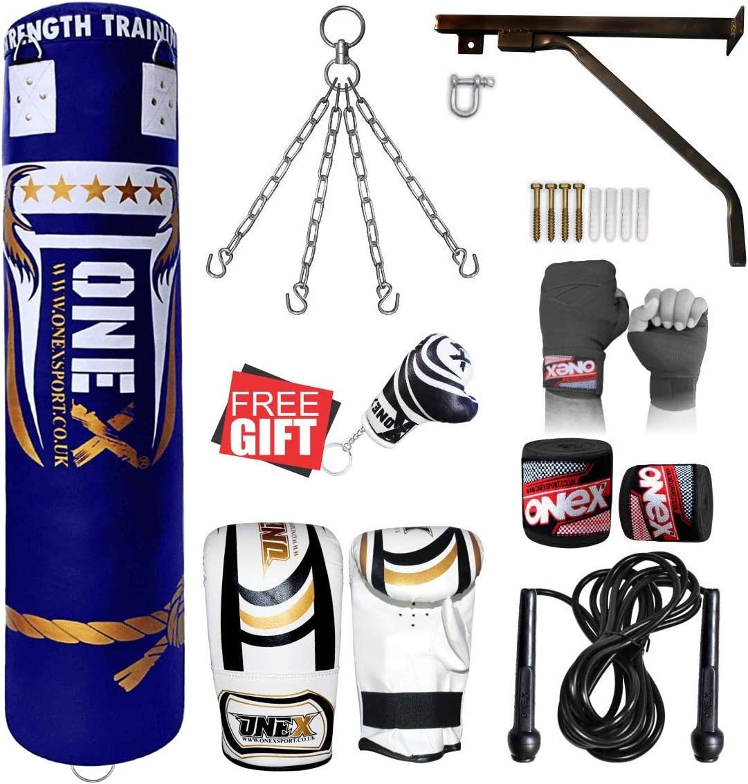 ONEX Heavy Filled 11 Piece 5ft Boxing Punch Bag