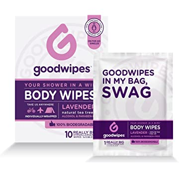powerful GoodWipes Women's Deodorizing Body Biodegradable Wipes