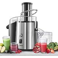 ⭐Centrifugeuse Extracteur de Jus de Fruits et Légumes - Grande Puissance (850 W) et 2 Vitesses - Large Bouche (75 mm), Pieds Anti-Dérapants