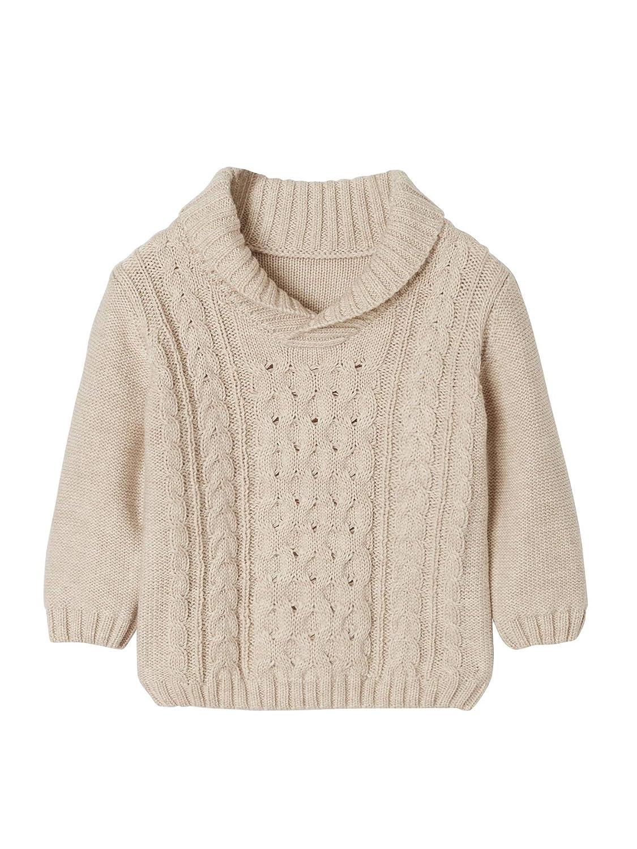 Warmer Kragen Vertbaudet Pullover f/ür Baby Jungen