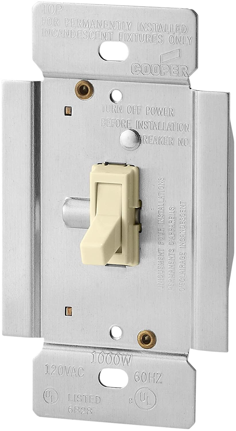 Eaton TI3101-W Trace Dimmer with Combination Single-Pole 3-Way Unit ...