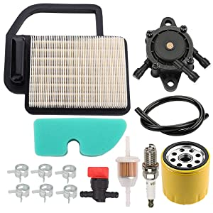 ATVATP 20 083 06-S Air Filter for Kohler SV470 SV480 SV530 SV540 SV590 SV600 SV610 SV620 Lawn Mower 20 083 02-S & 12 050 01-S Oil Filter 24 393 16-S Fuel Pump & 20 083 04-S Pre Filter
