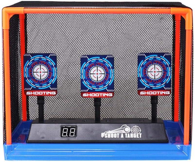 Goodtimera Objetivo Digital electrónico, 2020 Nuevo Objetivo de Disparo eléctrico con Efectos de Sonido y luz para Nerf Gun N-Strike Elite/Mega/Rival Series (baterías no Incluidas)