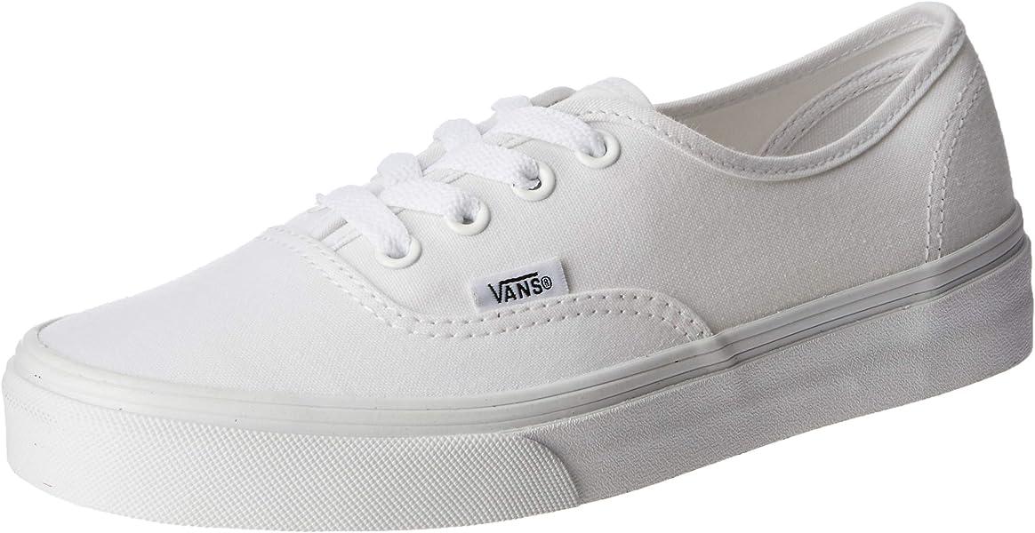 f312a3fda143d8 Vans Unisex Authentic True White Canvas VN000EE3W00 Mens 4.5