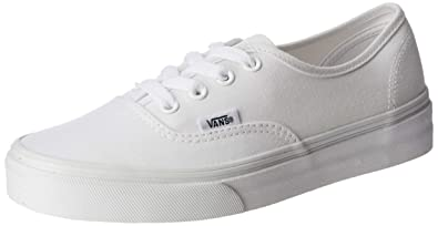 8ac2f5b730b Vans Unisex Authentic True White Canvas VN000EE3W00 Mens 8