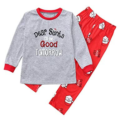 67d0820d2f Holiday Matching Family Christmas Xmas Pajamas PJs Sets Santa Match  Sleepwear Collection (Suit for Age