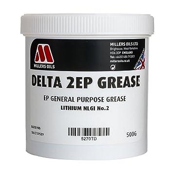 Millers Oils Delta 2EP - Grasa para rodamientos de Ruedas (500 g): Amazon.es: Coche y moto