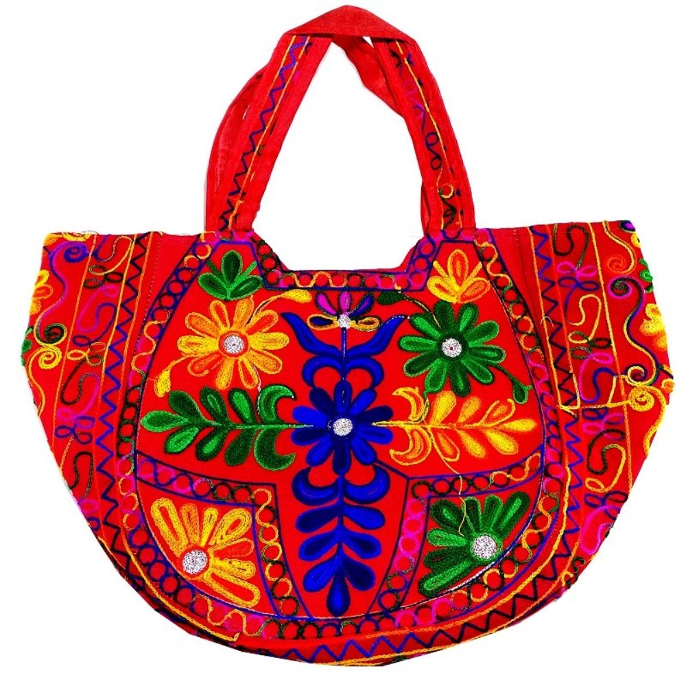 Handmade in India Shree Exports Indian Cotton Monk Bag Bohemian Cross Body Unisex Reversible Hippi Shouler Bag B 127