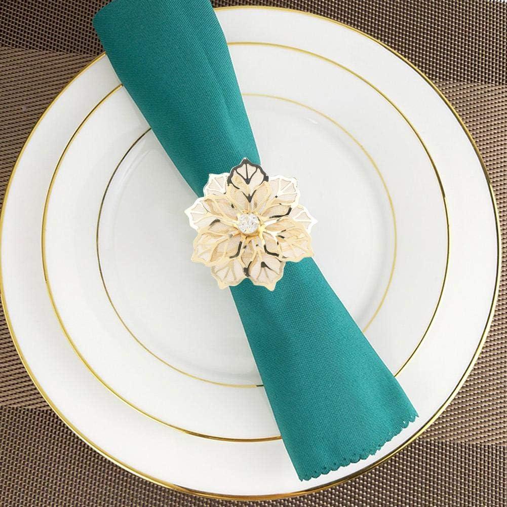 GAESHOW 6 pi/èces Anneau de Serviette Porte-Serviette Boucle pour d/îner de Mariage d/écoration de Table dor