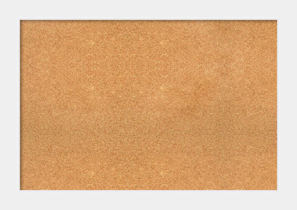 Amanti Art DSW3994499 Natural Cork Corvino White Framed Bulletin Boards, Extra Large,