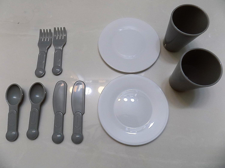 Little Tikes Bake ' N Grow Kitchen (モデル485176 )交換パーツ/ Pieces :テーブルウェア/ Eating Utensils (プレート、カップ、Silverware ) B077Z5MVDB