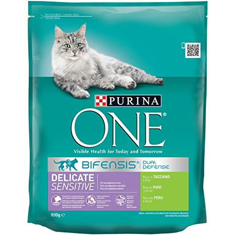 Purina One Especialidades para Gatos, Rico en Pavo y Arroz - 800 g