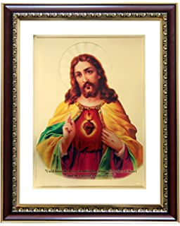 goldart jesus gold foil photo frame wall hangings sycl s4