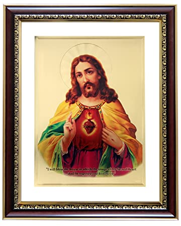 afd2b31e8430 Buy GoldArt Jesus Gold Foil Photo Frame Wall Hangings SYCL S4 Online at Low  Prices in India - Amazon.in