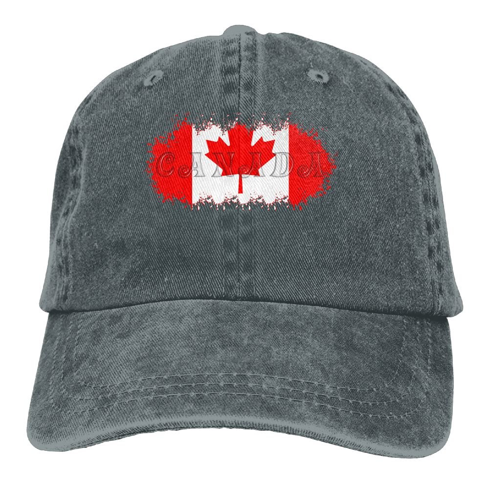 b55ebeeb0e5 Canada Flag Patch Canadian Maple Leaf Classic Unisex Baseball Cap  Adjustable Washed Dyed Cotton Ball Hat Ash at Amazon Men s Clothing store