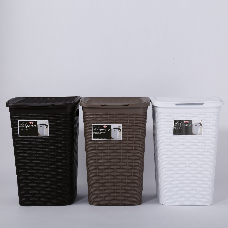 Stefanplast Elegance Laundry Basket, Plastic, White Amazoncouk Kitchen & Home