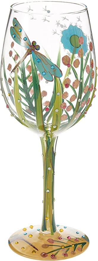 Lolita 4053099 Dragonfly Wine Glass 8 5 X 8 5 X 22 5 Cm Amazon Co Uk Kitchen Home