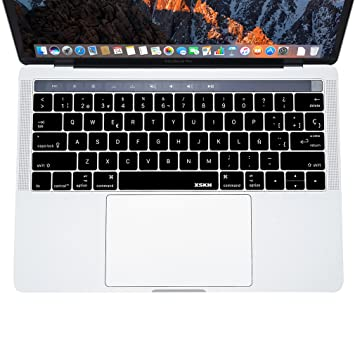Protector de teclado español QWERTY de XSKN 2016 de silicona para MacBook Pro OS X,