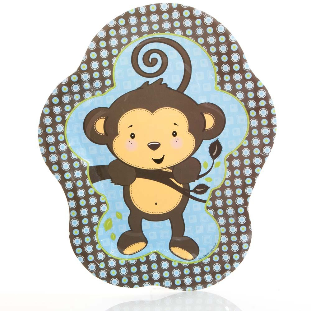 Amazon.com: Big Dot of Happiness Blue Monkey Boy - Baby Shower or ...
