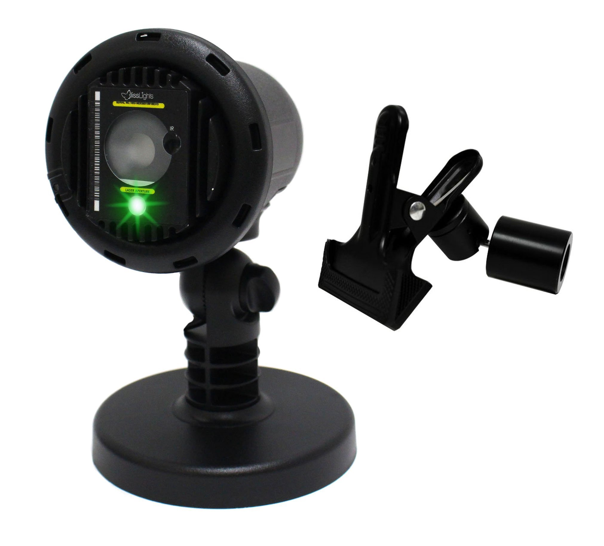 BlissLights Green Laser Projector with 16 Color LED and Free Clip