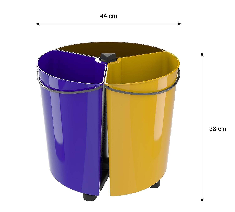 Abfalleimer für Mülltrennung für Küche und Büro (EcoBinSpin): Amazon ...