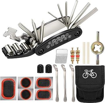 Kit outillage 16 en 1 multifonctions réparation vélo bicyclette vtt outil